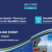 westmed Italy webinar on MSP and tourism announcement poster