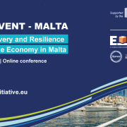 event announcement poster with typical malta boat in port