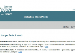 front page westmed france newsletter