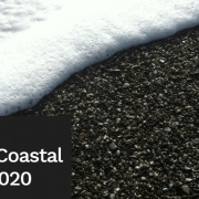 announcement poster coastal symposium with beach