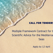 poster tender announcement text with beach background