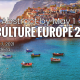 call for abstract poster with image of mediterranean port and town