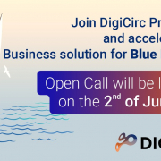 digicirc call announcement poster with text ansd sailing boat