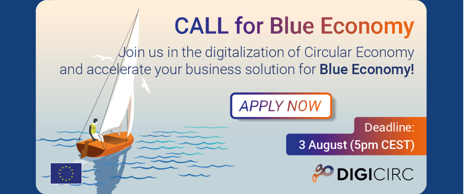 digicirc blue economy call poster with sailboat