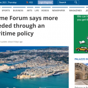 screenshot of malta independent website with article headline and aerial of Malta