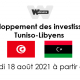 event announcment with libyan and tunisian flags