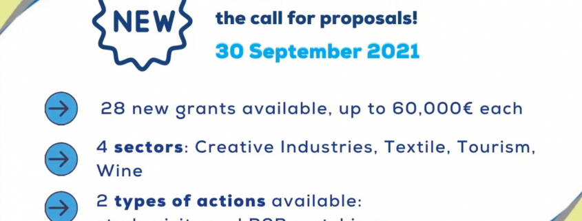 EU for business announcement poster with text
