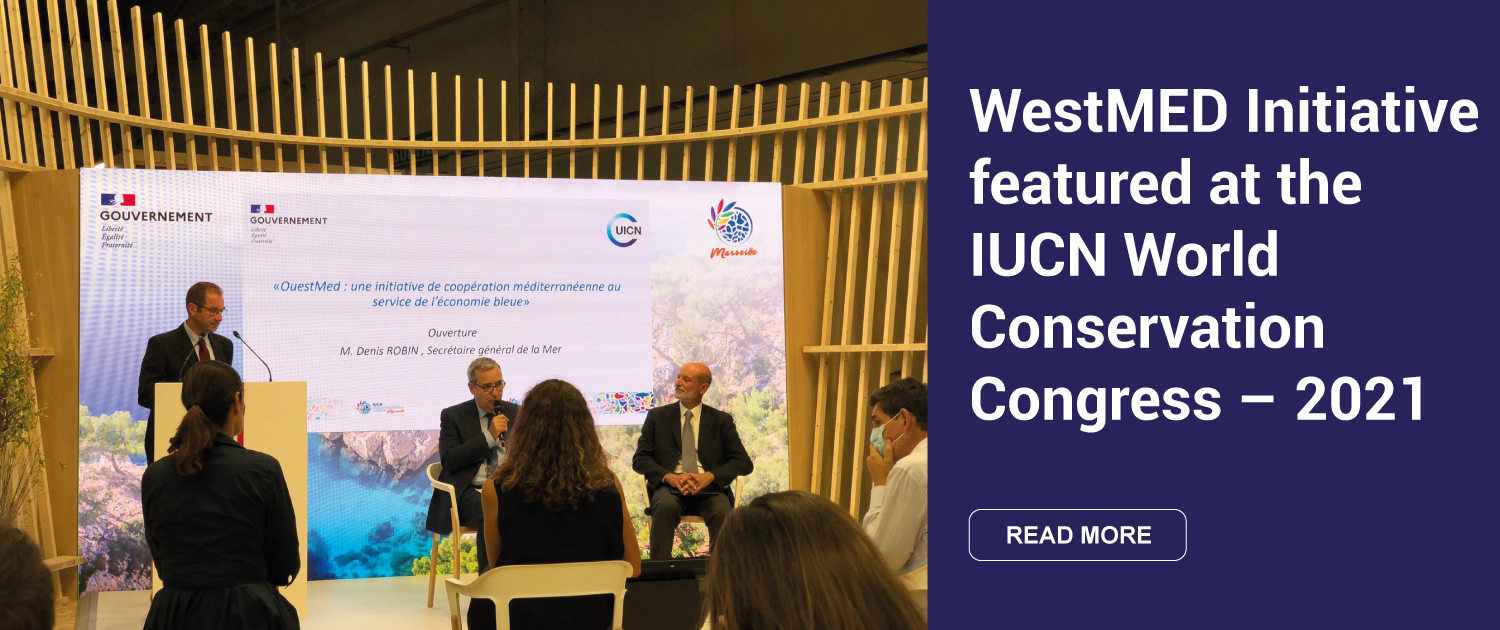 IUCN 2021 poster with image from WestMED event