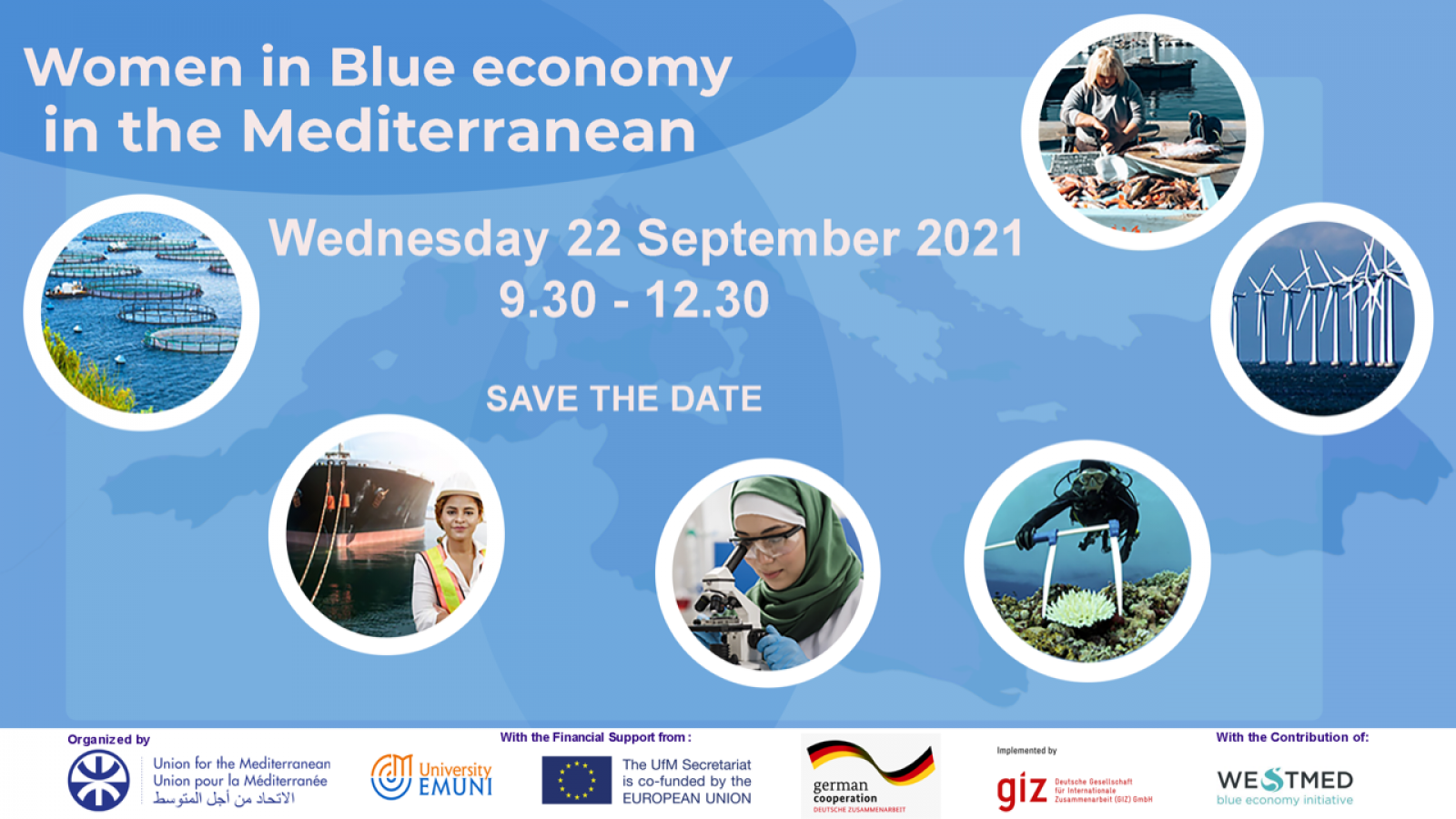women in blue economy 2021 event poster